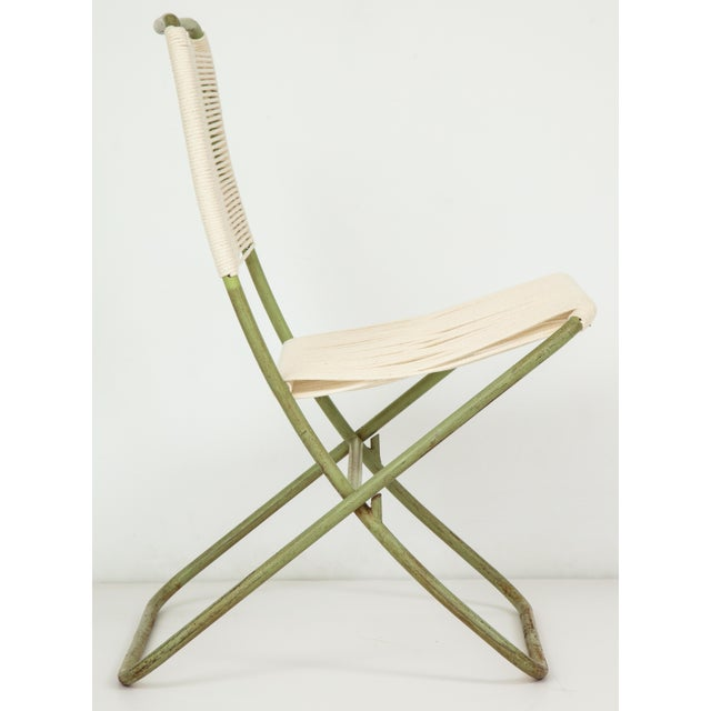 1950s 1950s Greta Grossman Folding Chairs - a Pair For Sale - Image 5 of 13