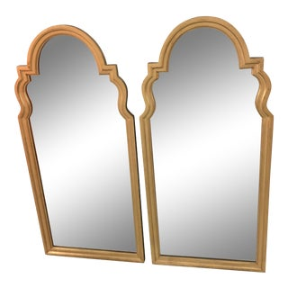 Vintage Pair of Gilt Gold Mirrors in the Style of LaBarge For Sale
