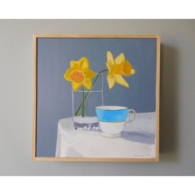 2010s Daffodil and Teacup by Anne Carrozza Remick For Sale - Image 5 of 7