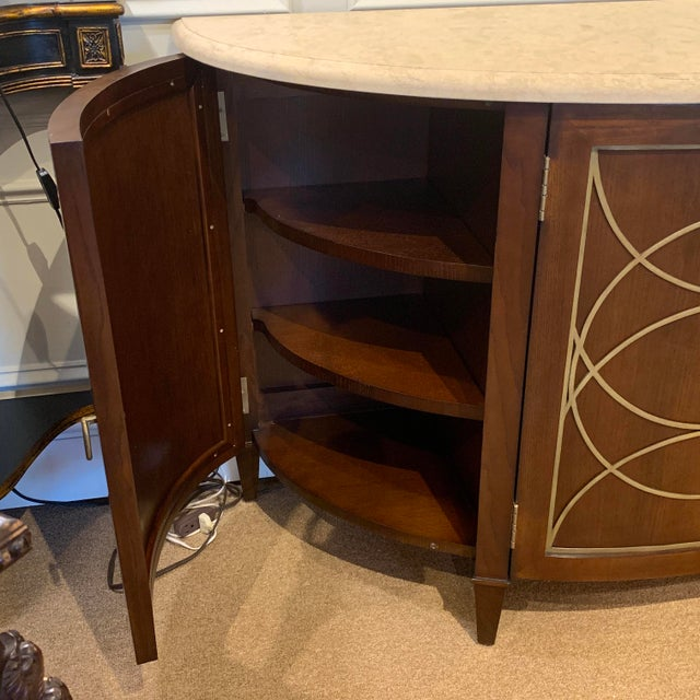 Duchamp Demilune Sideboard With Satillia Marble Top, by Hickory Chair Furniture For Sale In Atlanta - Image 6 of 12