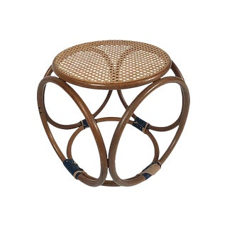 Bentwood Stool W/ Leather Bindings For Sale