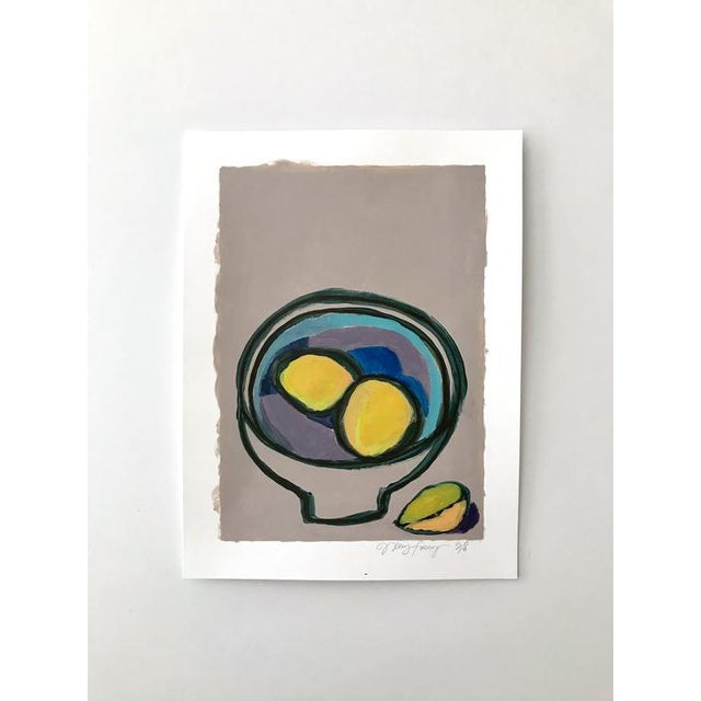 "Abstract 2010s Pop Art Original Painting, ""Fruit Bowl 1"" by Neicy Frey For Sale - Image 3 of 3"