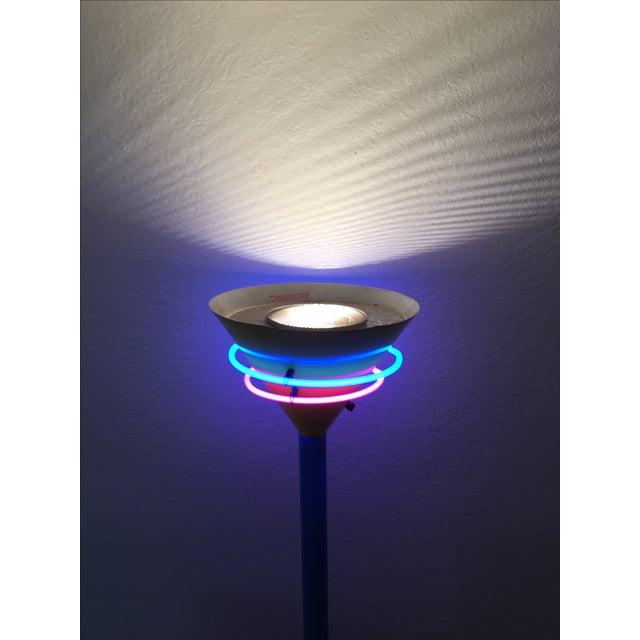 Vintage Memphis Style Halogen & Neon Floor Lamp For Sale - Image 5 of 10
