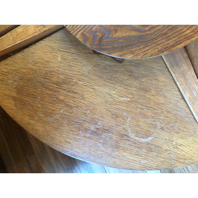 Wood Mid-Century Modern Handmade Oak Coffee Table Chair Set For Sale - Image 7 of 9