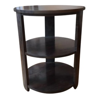 Harden 2 Tiered Round End Table Showroom Sample For Sale