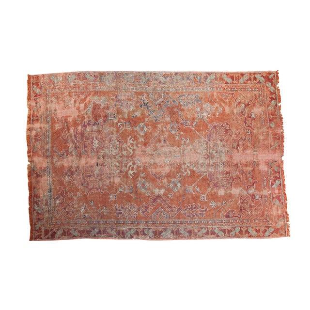 "Distressed Oushak Carpet - 5'4"" X 8' - Image 1 of 9"