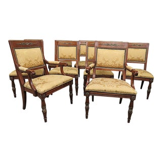 Henredon Empire Style Dining Chairs - Set of 10