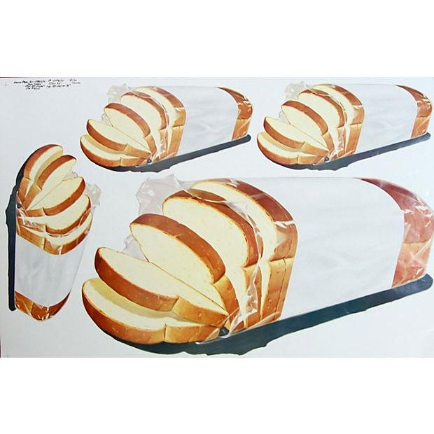 Vintage 1960 Bread Advertisement Cut Sheet Poster - Image 3 of 5