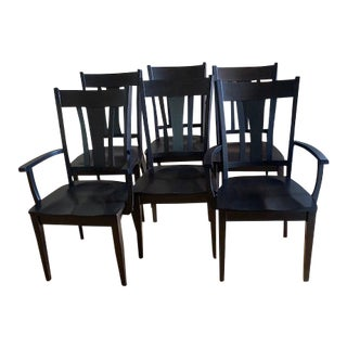 Amish Sheffield Dining Chairs - Set of 6 For Sale