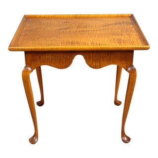 Tiger Maple End Table