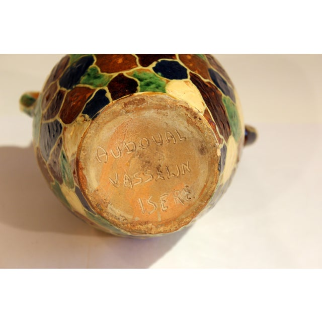 Early 20th Century Antique French Provence Country Pottery Irese Signed Vase Confit Pot Jug For Sale - Image 5 of 9
