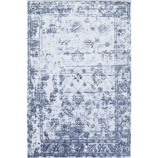 Distressed Vintage Blue Rug - 5'3''x 7'7''