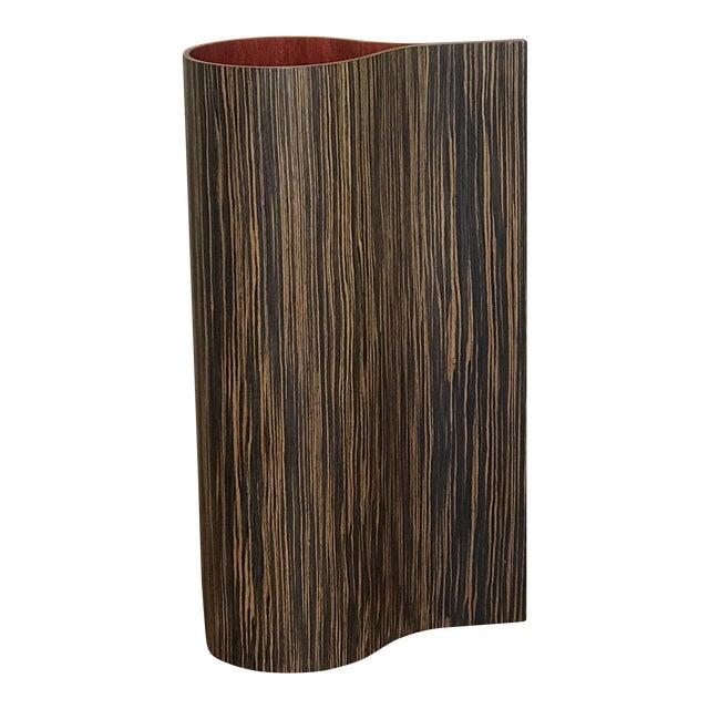 1970's Vintage Wooden Floor Vase For Sale