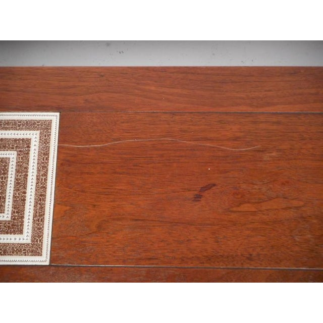 White Mid-Century Modern Tile-Tip Pivot Coffee Table For Sale - Image 8 of 11