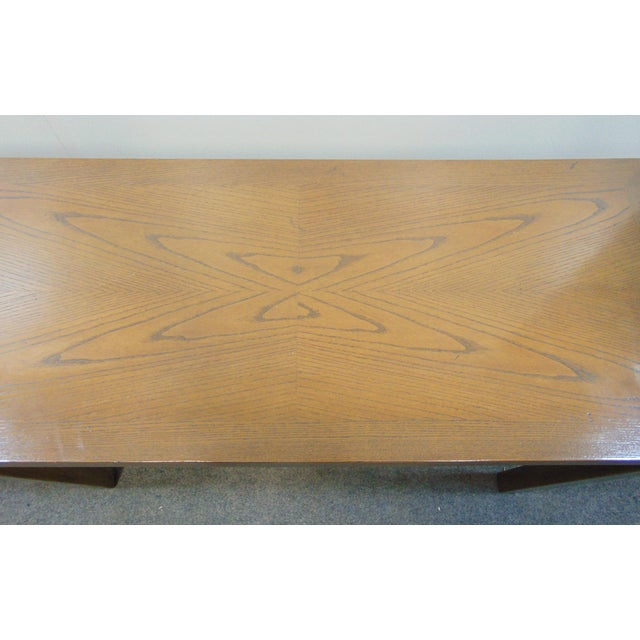 Beacon Hill Beacon Hill Mid-Century Oak Parsons Console Table For Sale - Image 4 of 8
