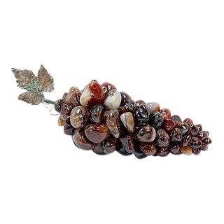 Polished Carnelian Agate Stone Grapes