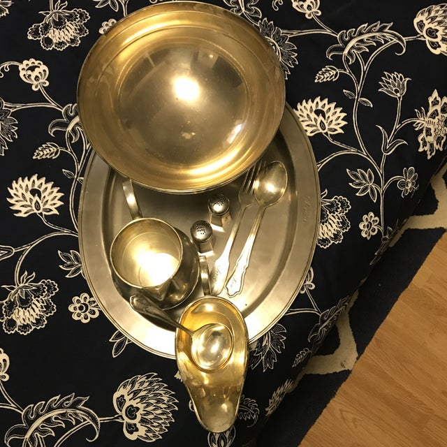 Brass Traditional Silver Set - Set of 6 For Sale - Image 7 of 8