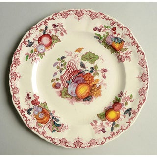 1960s Mason's Fruit Basket Red Multicolor Luncheon Plates - Set of 4 Preview