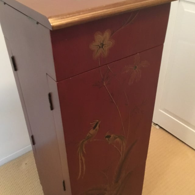 Tall Red Jewelry Chest For Sale - Image 4 of 12