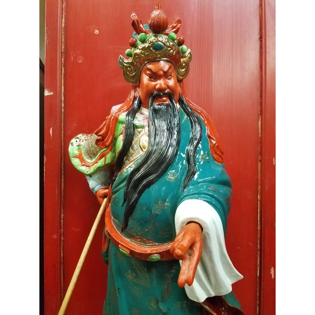 Chinese 1960's Kwan Kung Guan Gong or Guan Yu Gong Warrior God Of War, Warrior of Peace Statue Figure. This majestic...
