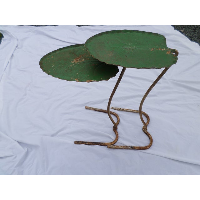 Salterini Lily Pad Nesting Tables - a Pair For Sale - Image 11 of 11