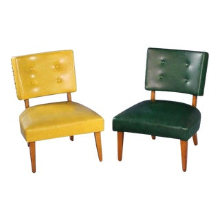 1950s Mid-Century Maple Lounge Chairs - a Pair