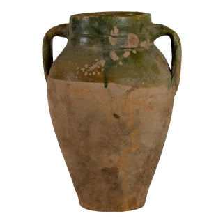Vintage Turkish Terracotta Oil Jar For Sale