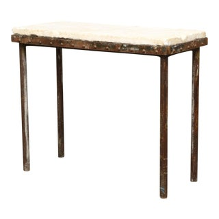 Industrial Plaster & Iron Base Table