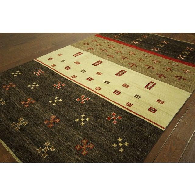 New Multicolor Gabbeh Oriental Area Rug - 6' x 9' - Image 4 of 10