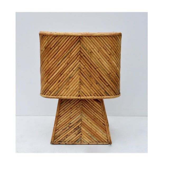 Rare Bamboo Swivel Chairs in the Manner of Crespi For Sale - Image 9 of 11