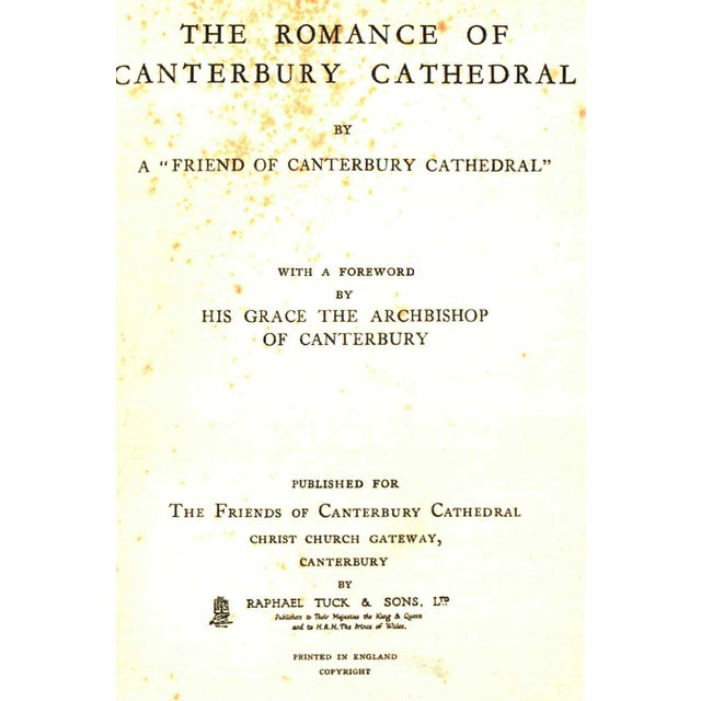 1932 The Romance Of Canterbury Cathedral Collectible Book Chairish