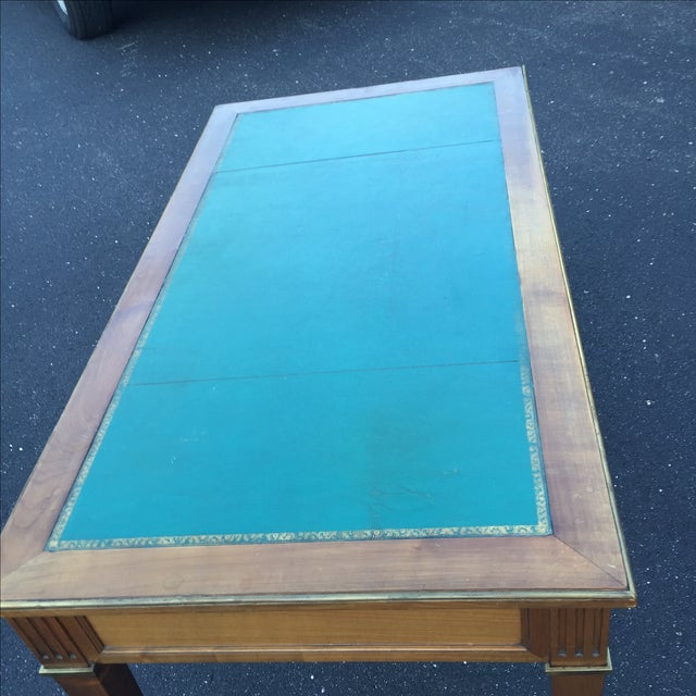 Antique Regency Leather Top Writing Desk - Image 9 of 9