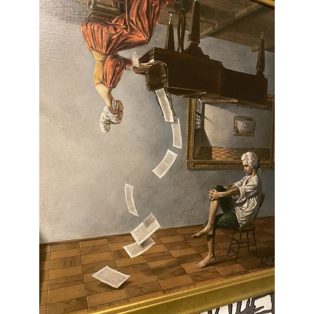 Discord of analogy by Michael Cheval Depicts Mozart This is the original number 36 out of giclee on canvas signed....
