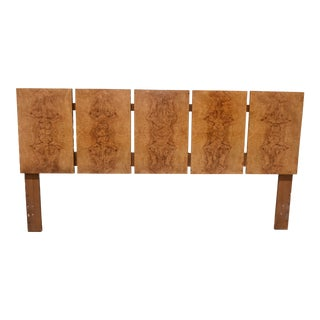 """Roland Carter for Lane """"Alpha Collection"""" Burl Wood King Headboard For Sale"""