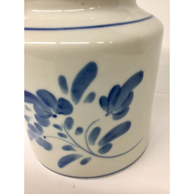 1980s 1980s Mediterranean Blue and White Cookie Jar For Sale - Image 5 of 13