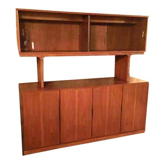 Skova Dixie Solid Teak Credenza & Hutch For Sale