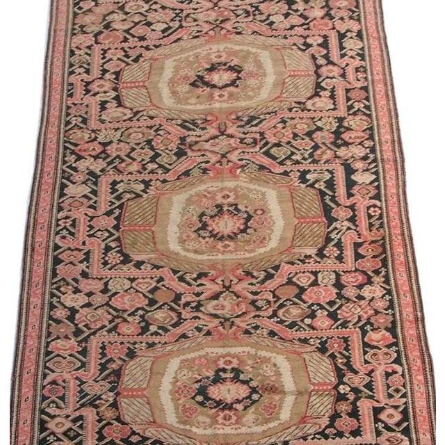Traditional 1900s Antique Karabagh Woolen Runner- 6′7″ × 19′5″ For Sale - Image 3 of 6