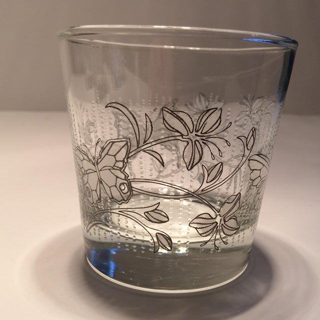 Vintage Butterfly Design Low Ball Glasses - Set of 6 - Image 4 of 11