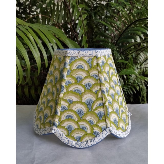 Metal Lampshade Clip on Brunschwig Fils Fabric For Sale - Image 7 of 10