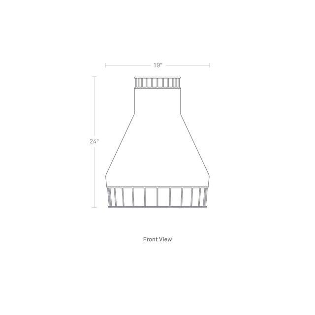 Boho Chic Blu Dot Laika Woven Wicker/Rattan Pendant Light For Sale - Image 3 of 3