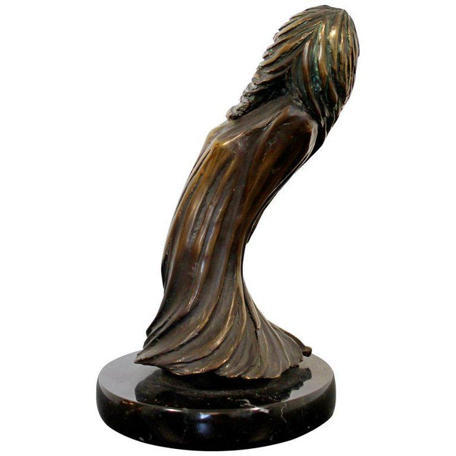 Metal Contemporary Modern Surrealist Tom Bennett Signed Bronze Marble Sculpture For Sale - Image 7 of 7