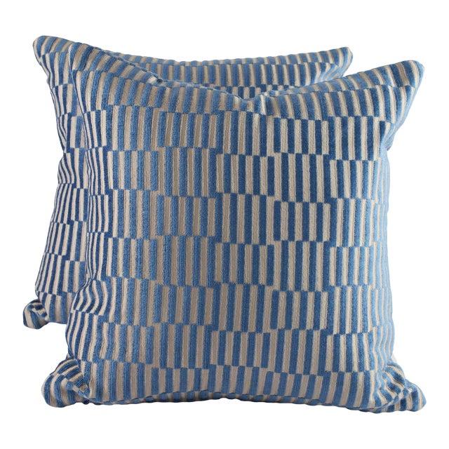 "18""x 18"" Geometric Manuel Canovas Down Pillows For Sale"