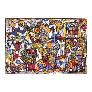 """Abstract """"The Vaudevillians"""" Original Artwork by Jonas Fisch For Sale"""