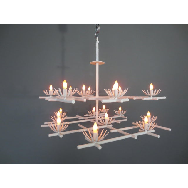 Contemporary Plaster Starburst Chandelier For Sale - Image 3 of 11