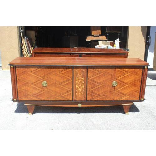 Monumental French Art Deco Palisander By Jules Leleu Sideboard / Buffet ,Circa 1940s - Image 2 of 10