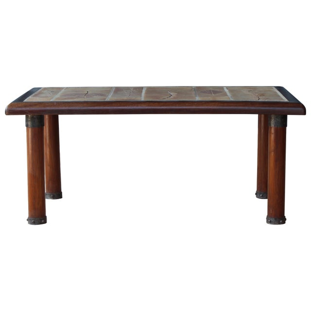 French Cocktail Table With Roger Capron Tiles, 1960s For Sale - Image 10 of 10
