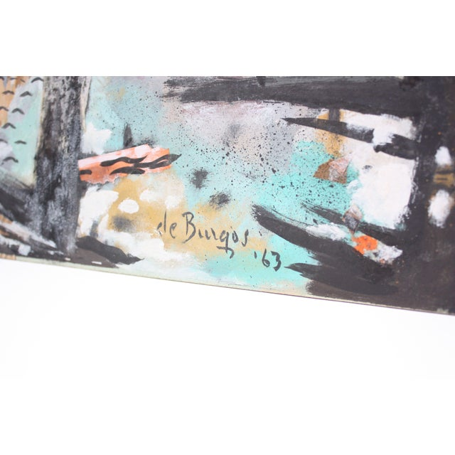 Ralph De Burgos Mixed-Media Abstract Collage For Sale - Image 4 of 12