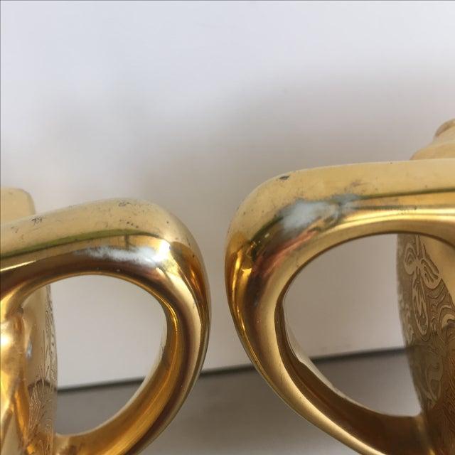 22 Karat Gold Cream and Sugar - Pair - Image 5 of 7
