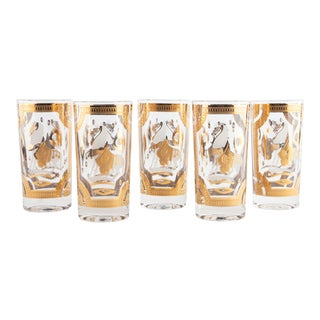 1960's Fred Press Etruscan Horse Glasses For Sale