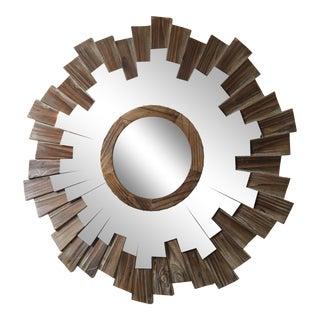 Driftwood Convex Sunburst Mirror For Sale